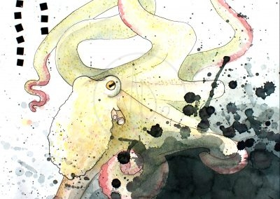 Octopus ink (watercolor - 2015)