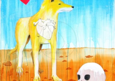 The yellow dog and the death
