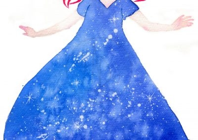 Vacuum dress - aquarelle - 210x297 - 2017